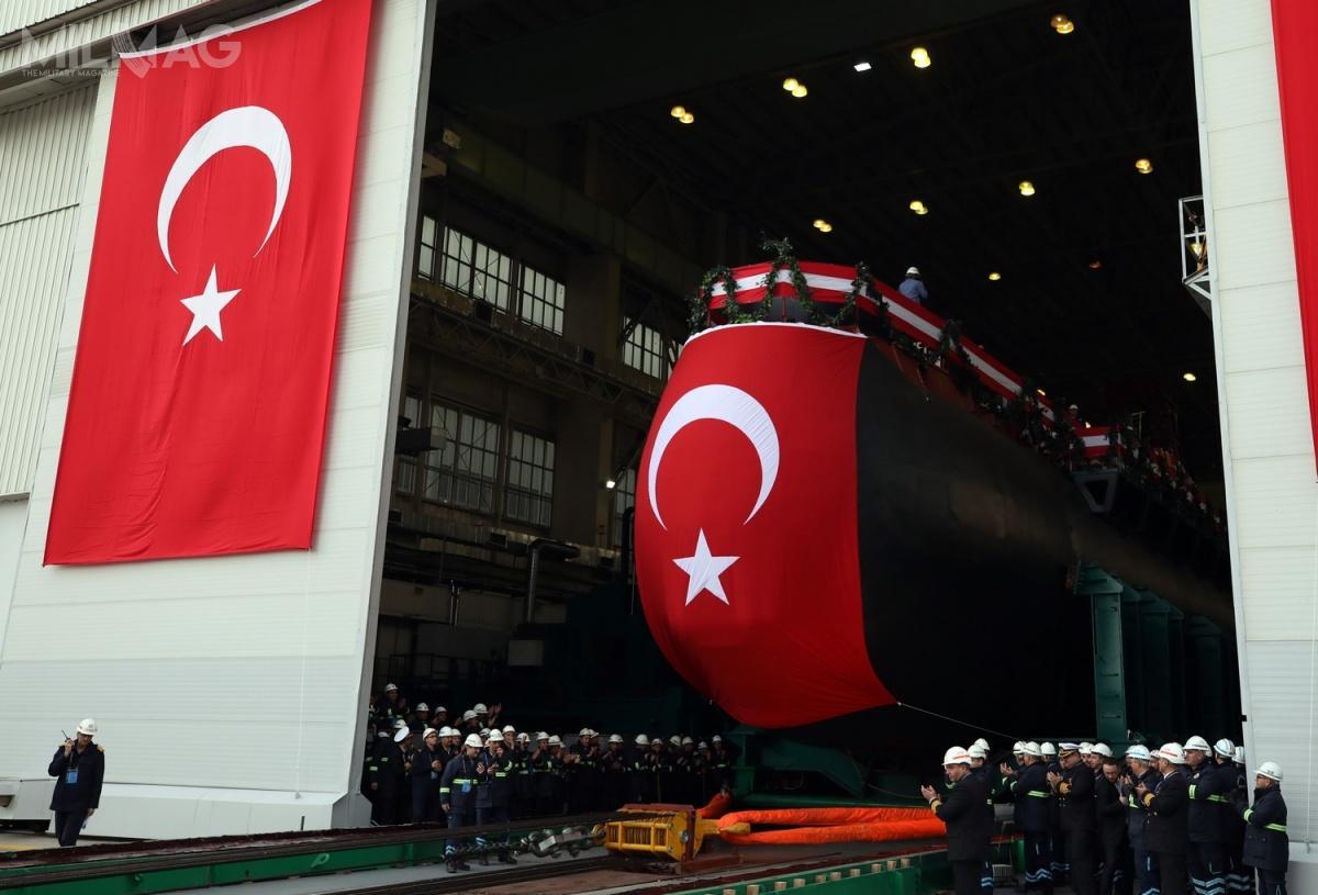 W uroczystości wodowania technicznego przyszłego okrętu podwodnego TCG Piri Reis ypu 214TN Reis wziął udział prezydent Turcji Recep Tayyip Erdoğan / Zdjęcie: Ministerstwo Obrony Turcji
