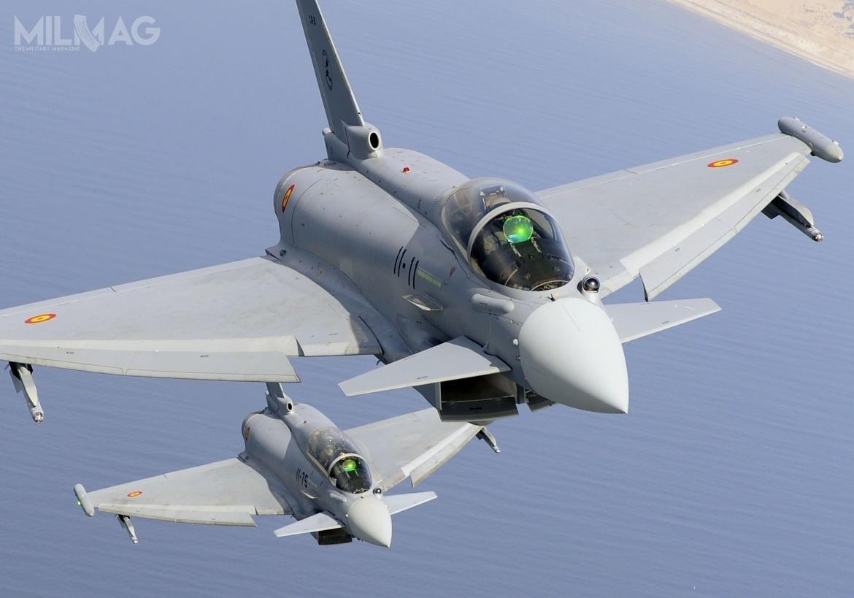 Dzięki modernizacji radarów, hiszpańskie Eurofighter EF-2000 Typhoon wwersji Tranche 1pozostaną wsłużbie do2045 / Zdjęcie: Eurofighter
