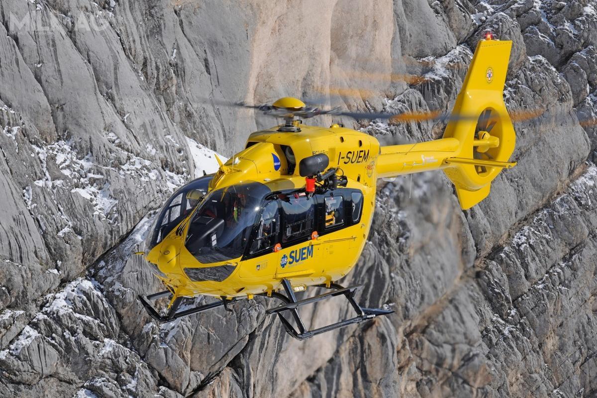 H145 został wybrany  zewzględu nadobre parametry lotu podczas operacji  wgorącym klimacie iwgórach