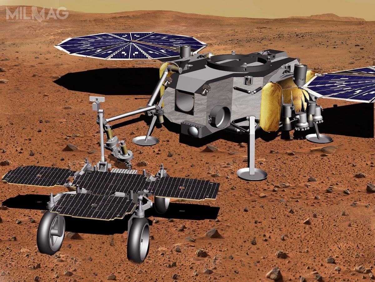 Zespół przemysłowo-badawczy podkierownictwem Airbusa zeStevenage opracował już wyrafinowane algorytmy wykrywania tubek napowierzchni Marsa, aprzy pomocy europejskiego przemysłu opracowano ramię robota zchwytakiem dozbierania próbek / Grafika: Airbus Defence and Space