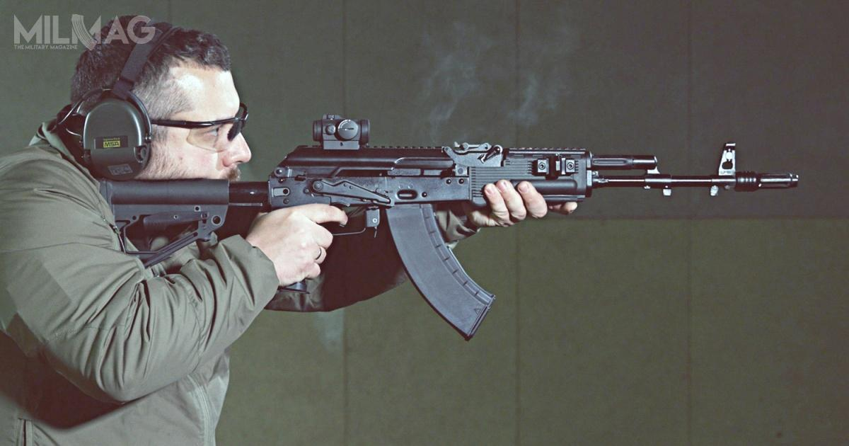 Karabinek AK-204 tozmodyfikowany AK-104 zpakietem modernizacyjnym KM-AK 6Cz63. Broń budzi zainteresowanie Indii ipaństw bliskowschodnich / Zdjęcia: Koncern Kałasznikow, Rosoboroneksport