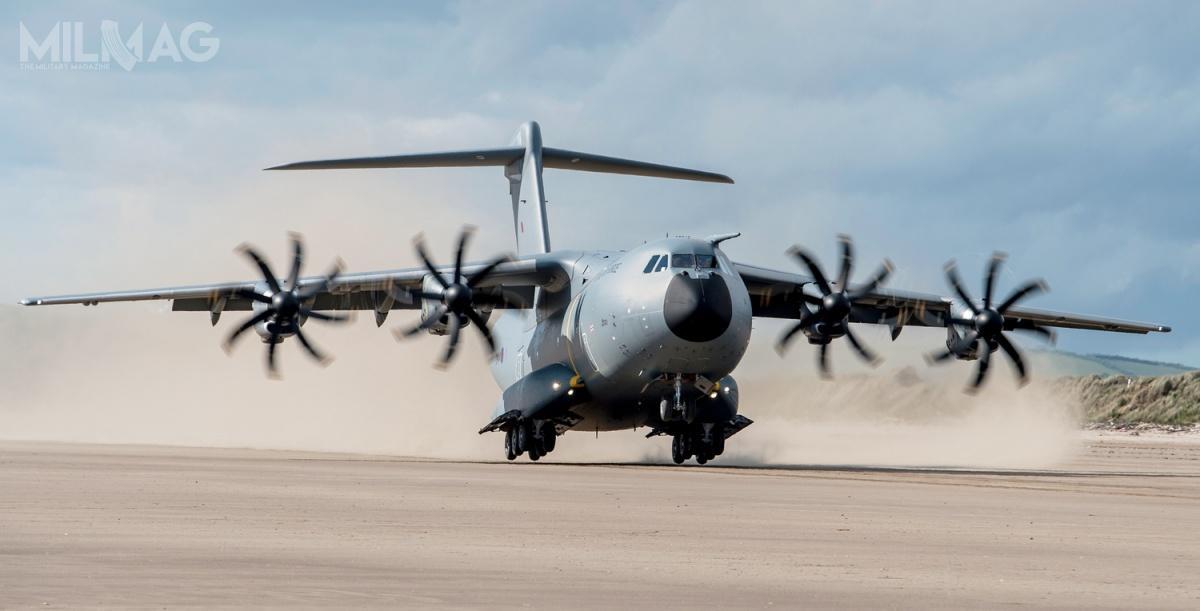 Użytkownikami samolotów A400M-180 są Francja, Niemcy, Wielka Brytania, Malezja, Turcja iHiszpania. Swoje egzemplarze mają odebrać Belgia, Luksemburg iMalezja. Airbus otrzymał zamówienia na174 samoloty, zczego 79 już dostarczono / Zdjęcie: Ministerstwo Obrony Wielkiej Brytanii