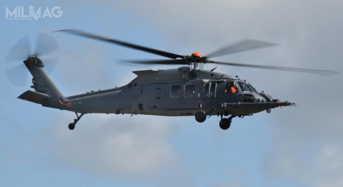 HH-60W Jolly Green II (odostatniej litery nazywany również Whiskey) został opracowany dla amerykańskich wojsk lotniczych (US Air Force, USAF) wramach programu Combat Rescue Helicopters (CRH) wmiejsce HH-60G Pave Hawk. Wplanach jest zakup 113 wiropłatów. Testy przechodzą cztery prototypy – pierwszy znich oblatano 17 maja 2019. 24 września br.podjęto decyzję orozpoczęciu produkcji małoseryjnej. Zamówienie na10 znich ma zostać ogłoszone napoczątku 2021 / Zdjęcie: Lockheed Martin