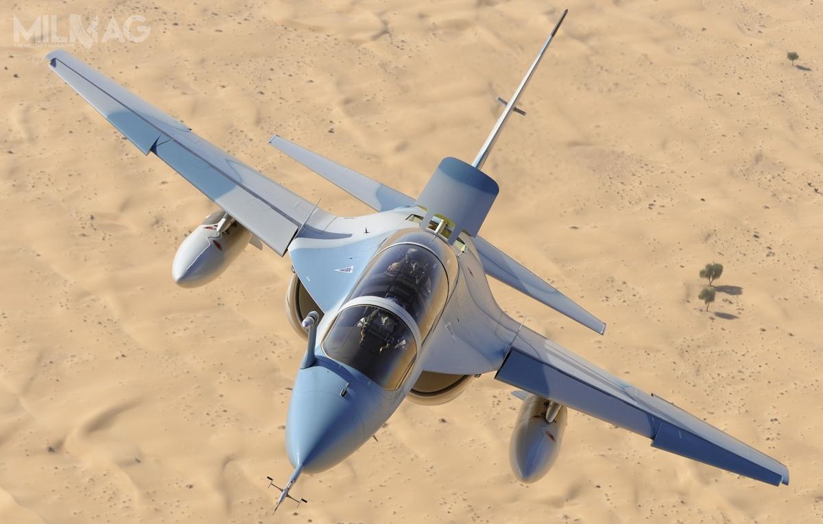 Samoloty szkolenia zaawansowanego M-346 Master weszły jak dotąd nawyposażenie wojsk lotniczych Włoch (jako T-346A), Singapuru, Izraela (M-346 Lavi) iPolski (M-346 Bielik). Włoskie egzemplarze (wraz ztymi należącymi doLeonardo) są także wykorzystywane także wMiędzynarodowym Ośrodku Szkoleniowym IFTS wbazie lotniczej Galatini / Zdjęcie: Leonardo