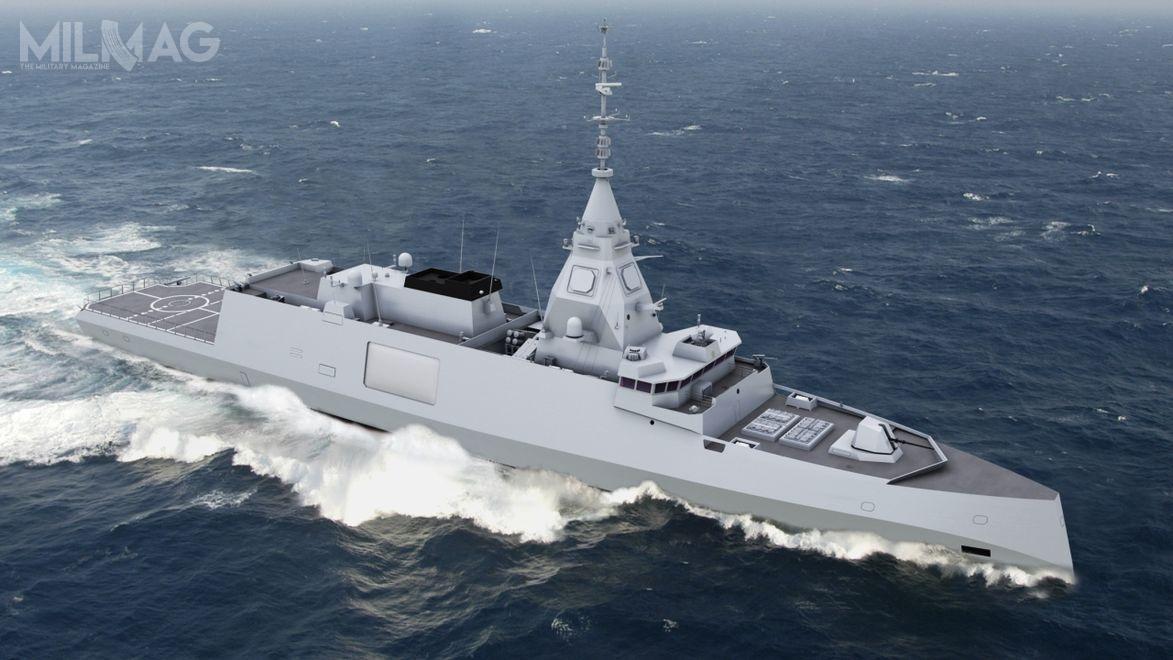 Projekt przyszłych fregat rakietowych typu Belh@rra został ujawniony podczas międzynarodowego salonu uzbrojenia Euronaval 17-21 października 2016 / Grafika: Naval Group