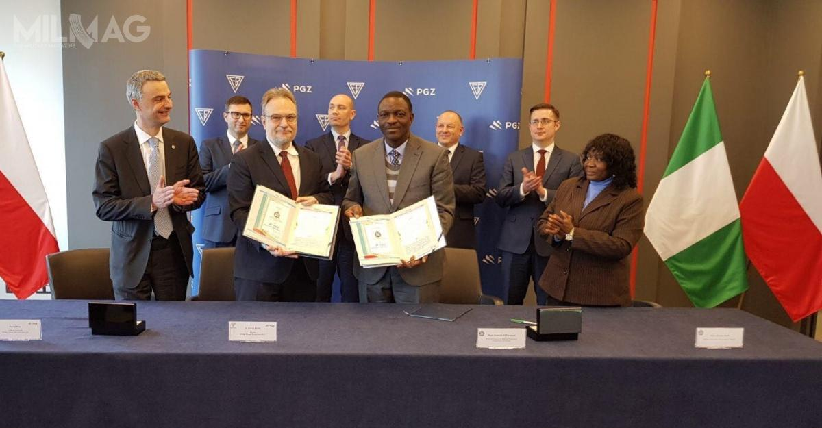Ceremonia podpisania listu intencyjnego między Polską Grupą Zbrojeniową aDefence Industries Corporation of Nigeria wsprawie produkcji karabinków M762 wNigerii / Zdjęcie: PGZ