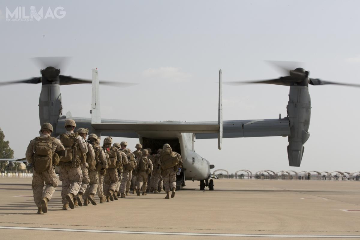 Korpus Piechoty Morskiej zwiększa zdolności swoich zmiennowirnikowców poprzez próby zróżnym wyposażeniem isystemami uzbrojenia. Ma tozwiększyć przede wszystkim zdolności samoobrony. /Zdjęcie: US DOD