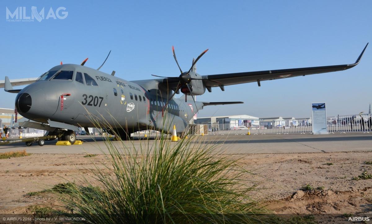 C295W (zulepszonymi silnikami iwingletami) pomyślnie zakończył program prób wIndiach wsierpniu 2016. /Zdjęcie: Airbus Defence and Space