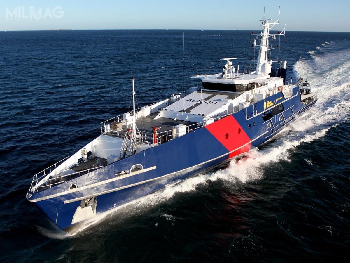 W wariancie australijskim patrolowce Cape niemogą przyjmować śmigłowców, aleokręty budowane dla Filipin zostaną wyposażone wrufowe lądowisko. / Zdjęcia: Austal