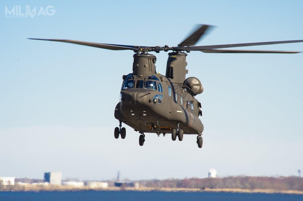 4 kwietnia 2019 Boeing poinformował ooblocie pierwszego prototypu zmodernizowanego CH-47F Chinook Block II. Koncern realizuje zakrojony naszeroką skalę program modernizacyjny wiropłatów tego typu, należących doUS Army iUS SOCOM / Zdjęcie: Boeing