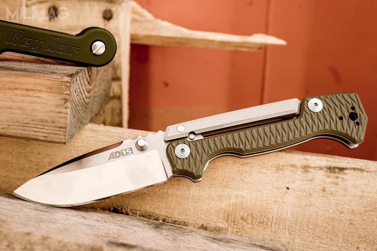 AD-15 zlinii zaprojektowanej przezAndrew Demko reprezentuje wiele charakterystycznych cech dla noży Cold Steel. Miejmy nadzieję, żezgodnie zdeklaracjami Thompsona, firma pozostanie przy produkcji masywnych, wytrzymałych folderów przy współudziale Demko /Zdjęcia: Cold Steel