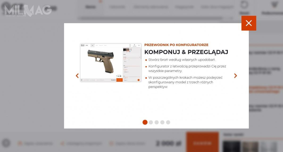 Ceska Zbrojovka uruchomiła polskojęzyczną wersję strony internetowej wraz zinteraktywnym konfiguratorem broni. Dostarcza on wiele radości, wtym sporo niezamierzonej językowej.