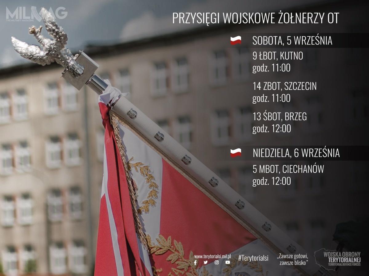 Po wypowiedzeniu słów roty przysięgi wojskowej ponad dwustu ochotników stanie się żołnierzami Wojska Polskiego irozpocznie Terytorialną Służbę Wojskową / Zdjęcie: Wojska Obrony Terytorialnej