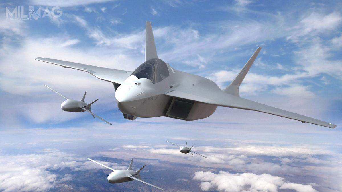 Przedsiębiorstwa technologiczne zNiemiec, Hiszpanii iFrancji, wramach konsorcjum wykonawczego, zrealizują wstępne prace koncepcyjne nadzestawami czujników isystemami wymiany informacji idanych dla samolotu wielozadaniowego 6. generacji FCAS / Grafika: Airbus Defence and Space