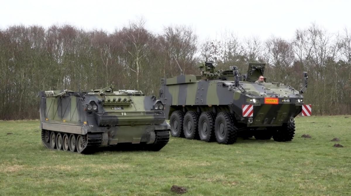 Piranha V będą systematycznie zastępować wlinii część przestarzałych gąsienicowych transporterów piechoty Pansret Mandskabsvogn, będące zmodyfikowaną wersją M113. Pozostałe znich są zastępowane przezbojowe wozy piechoty CV9035DK. / Zdjęcie: Forsvaret