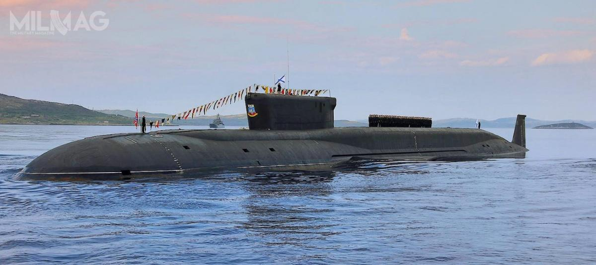 Pierwsze wersje strategicznych okrętów podwodnych projektu 955 Boriej, wtym prototypowy K-535 Jurij Dołgorukij (nazdjęciu), atakże K-550 Aleksander Newski orazK-551 Władimir Monomach, weszły dosłużby wlatach 2013-2014 / Zdjęcie ifilm: Ministerstwo Obrony Federacji Rosyjskiej