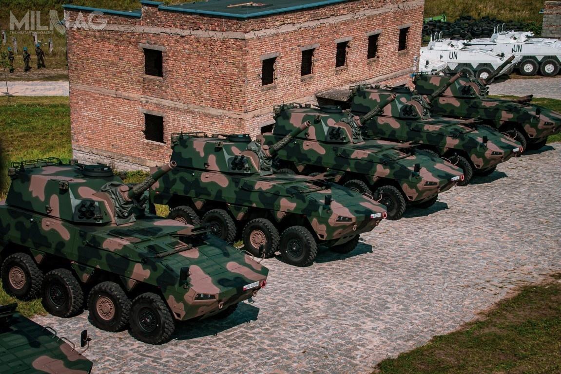 Po zakończeniu realizacji dostaw 64 moździerzy M120K Rak zpierwszej umowy i18 zkolejnej, nastanie Wojska Polskiego w2021 będzie znajdować się łącznie 82 pojazdy ogniowe, zczego 80 wjednostkach liniowych / Zdjęcia: Ministerstwo Obrony Narodowej