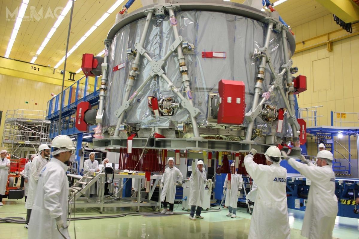 ESM został dostarczonyna pokładzie samolotu transportowego An-124 Rusłan doośrodka NASA Kennedy Space Center naFlorydzie. /Zdjęcia igrafiki: Airbus Defence and Space