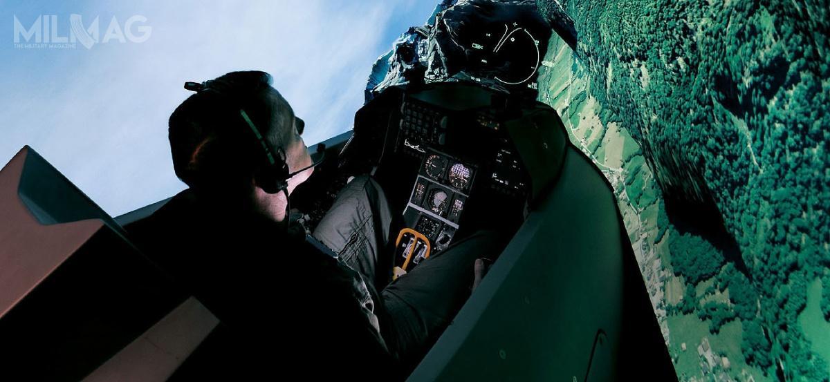 Symulator lotów samolotów F-16, oferowany przezL3 Link Training & Simulation / Zdjęcie: L3 Link