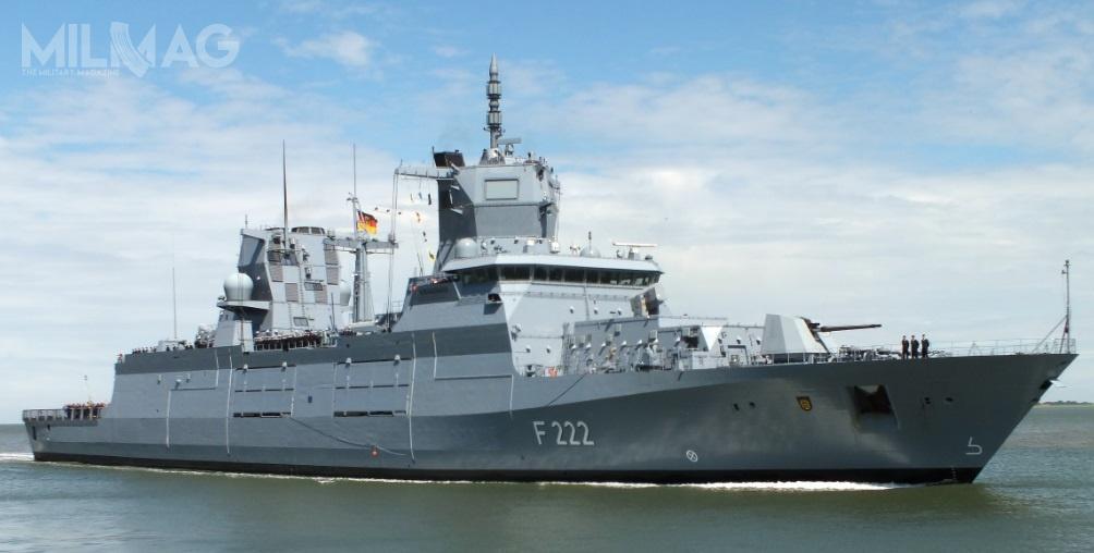 Niemiecka marynarka wojenna określa nowy typ fregat jako okręty wyspecjalizowane dorealizacji misji stabilizacyjnych, co jednak nieoznacza, żeniemogą być wykorzystywane podczas działań wojennych / Zdjęcie: Deutsche Marine