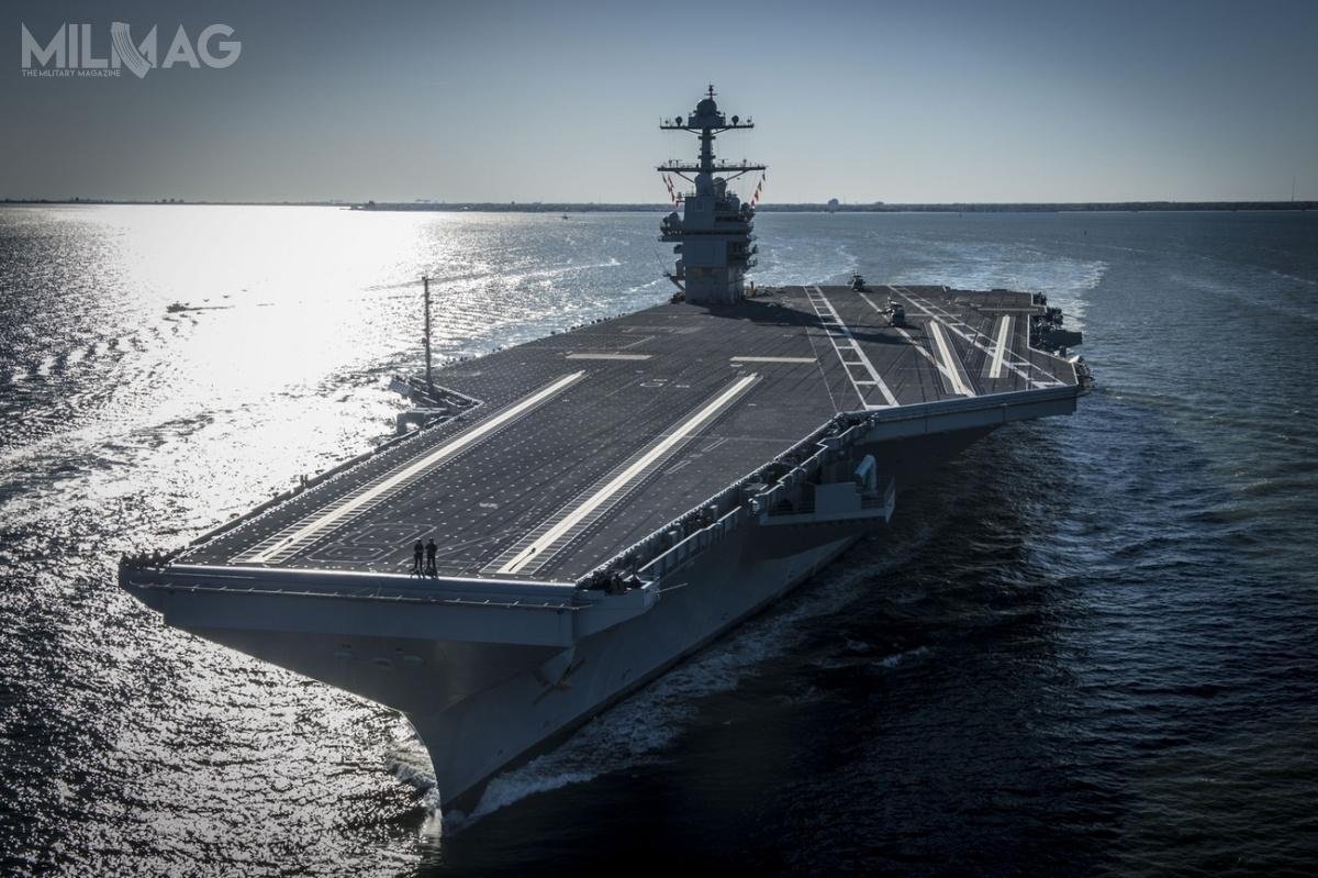 Obecnie wsłużbie US Navy pozostaje pojedynczy lotniskowiec klasy Gerald R. Ford. Ponadto wlatach 1975-2009 dosłużby weszło 10 okrętów typu Nimitz, które będą zastępowane przezjednostki nowej generacji / Zdjęcie: US Navy