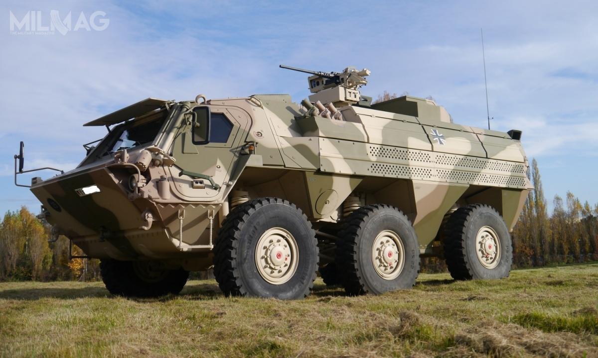 Projekt orazrozwiązania zastosowane wkołowych transporterów opancerzonych TPz Fuchs 1/2 wpłynęły natakie konstrukcje jak fińskie Sisu XA-180 6x6 (Pasi) iich wersje rozwojowe (XA-185/186/188/200/203), chińskie WZ-551/ZSL92 oznaczone także jako typ 90/92 czywkońcu ukraiński BTR-4 Bucefalus / Zdjęcie: Rheinmetall