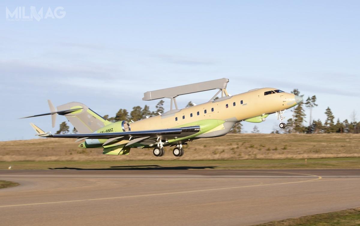 ZEA zamówiły w2015 dwa samoloty GlobalEye zarównowartość 1,27 mld USD (4,3 mld zł), wlistopadzie 2017 rozszerzając kontrakt okolejny egzemplarz zadodatkowe 238 mln USD (806 mln zł). ZEA są obecnie użytkownikiem dwóch samolotów wczesnego ostrzegania idowodzenia Saab 2000, wyposażonych wradar Erieye / Zdjęcia: Saab Defence and Security