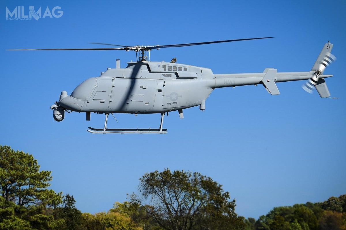 Bezzałogowe śmigłowce MQ-8C, opracowane wramach programu Fire-X, będą wspierać MH-60S/R Seahawk, operując zpokładów fregat rakietowych typu Independence iFreedom klasy LCS, atakże potencjalnie zfregat nowej generacji FFG(X) czyniszczycieli Arleigh Burke Flight III. Najednostkach tejklasy wV iVII Flocie są wykorzystywane mniejsze MQ-8B, oparte naśmigłowcach Schweizer 333 / Zdjęcie: US Navy
