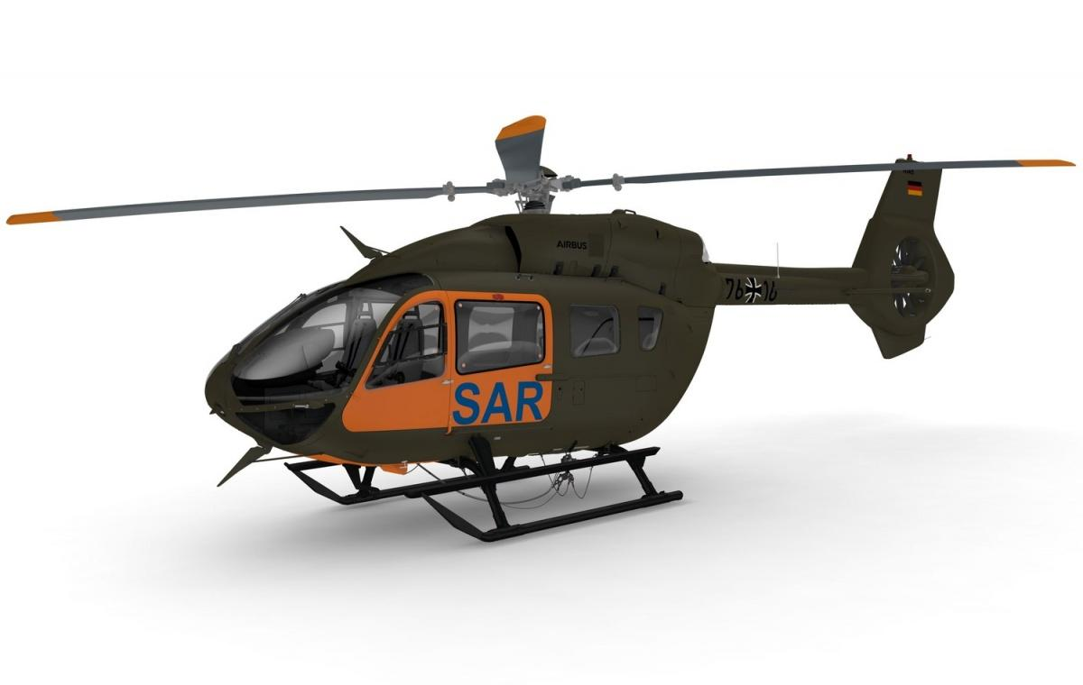 Lekkie śmigłowce transportowe iposzukiwawczo-ratownicze H145 LUH SAR uzupełnią zmilitaryzowane H145M, pełniące rolę lekkich śmigłowców wsparcia sił specjalnych. /Zdjęcie: Airbus Helicopters