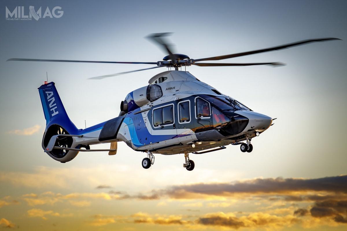 Airbus Helicopters poinformowała ooblocie lekkiego śmigłowca wielozadaniowego H160, przeznaczonego dla japońskiej spółki All Nippon Helicopter / Zdjęcie: Airbus Helicopters