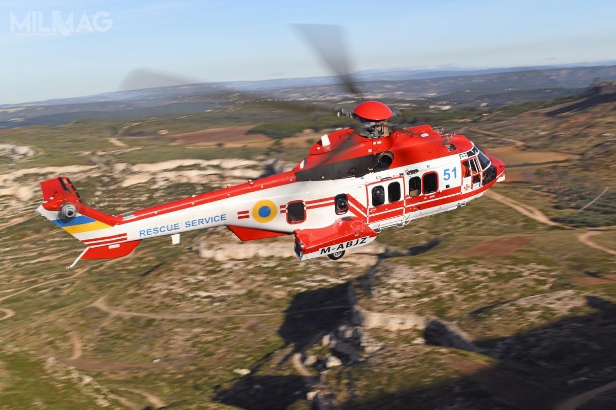 Pierwsze dwa używane iprzebudowane napotrzeby odbiorcy śmigłowce H225 Super Puma dotarły naUkrainę wpięć miesięcy odpodpisania umowy zAirbus Helicopters / Zdjęcie: Airbus Helicopters