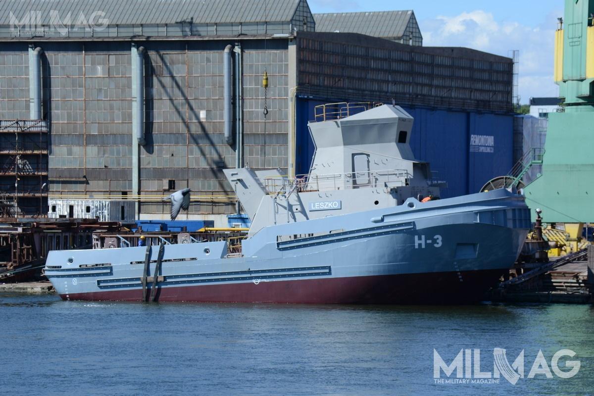 H-3 topiąty zserii oraztrzeci iostatni zholowników, które trafią doDywizjonu Okrętów Wsparcia 3Flotylli Okrętów. Docelowo jednostki te zastąpią wGdyni eksploatowane tam obecnie holowniki H-5 iH-7 typu H-900/II (wsłużbie od1981 r.) orazH-8 typu H-960 (wsł. od1993 r.)
