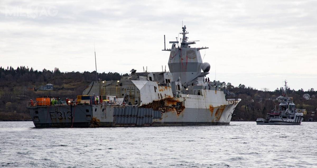 Raport Ministerstwa Obrony Norwegii wskazuje, żenaprawa uszkodzonej fregaty trzykrotnie przekracza koszt budowy nowej jednostki tejklasy. Oprócz uszkodzeń powstałych wwyniku kolizji idziałania wody, któradostała się dośrodka, wwielu miejscach kadłub inadbudówka zardzewiały