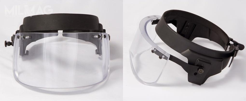 Osłona balistyczna Vigard Visor LT50 omasie 1,3-1,6 kg. Wizjer wykonano zpoliwęglanu zwarstwą termoplastycznego poliuretanu (TPA) laminowanego metakrylanem metylu (PMMA) / Zdjęcie: ArmorUSA