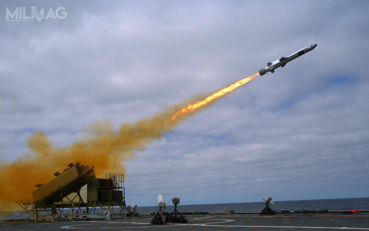 Norweski Kongsberg wspólnie zRaytheonem oferuje wprogramie NEMESIS pociski NSM. Zostały wybrane przezUS Navy dla fregat typu LCS, były również poddawane próbom przezUS Army / Zdjęcie: Kongsberg