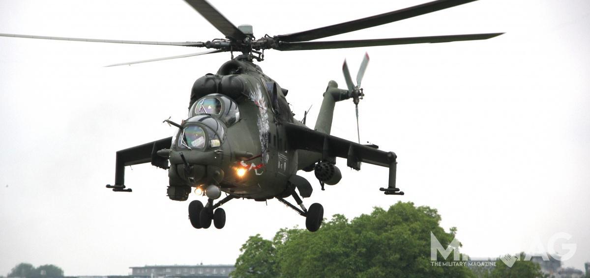 Śmigłowce Mi-24 wielokrotnie wspierały polskich żołnierzy wAfganistanie operując wramach Samodzielnej Grupy Powietrznej / Zdjęcia: Jakub Link-Lenczowski