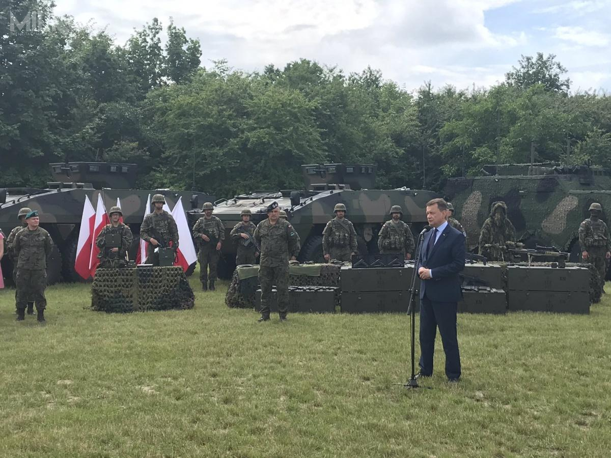 Pełną gotowość operacyjną 18. Dywizja Zmechanizowana osiągnie wdrugim kwartale 2021, wramach ćwiczenia Dragon-21, gdynastąpi certyfikacja poszczególnych jednostek wchodzących wjej skład. / Zdjęcia: Ministerstwo Obrony Narodowej