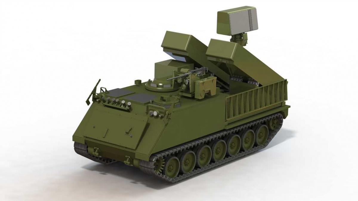 Samobieżne zestawy przeciwlotnicze krótkiego zostały zaprojektowane woparciu oprzebudowane transportery opancerzone M113