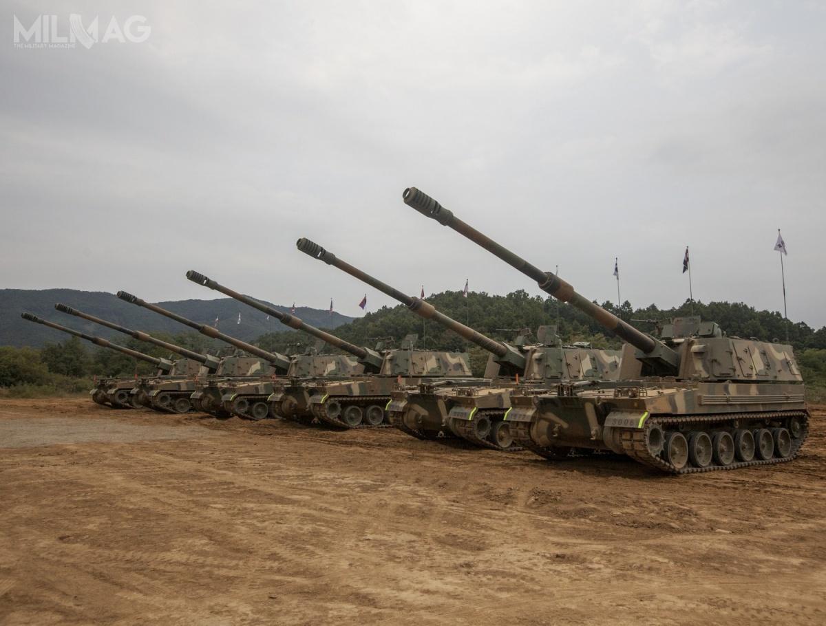 Obecnymi użytkownikami 155-mm armatohaubic K9 Thunder są Korea Południowa iTurcja. Kolejnymi państwami, które wejdą wich posiadanie będą Estonia, Finlandia, Norwegia, Indie iprawdopodobnie Egipt / Zdjęcie: ROK Army