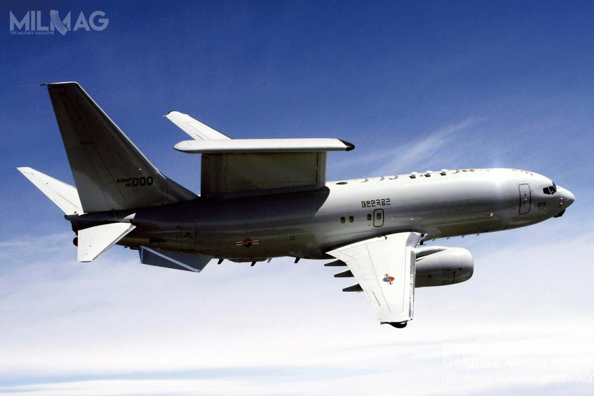 Dwa dodatkowe samoloty wczesnego ostrzegania idozoru przestrzeni powietrznej AEW&C uzupełnią cztery eksploatowane od2012 roku E-7A Wedgetail, znane też jako Peace Eye. Samoloty tego typu są także nawyposażeniu wojsk lotniczych Australii (6egz.) iTurcji (4egz. jako Peace Eagle). Wniedalekiej przyszłości kolejnym użytkownikiem zostanie Wielka Brytania. / Zdjęcie: ministerstwo obrony Republiki Korei