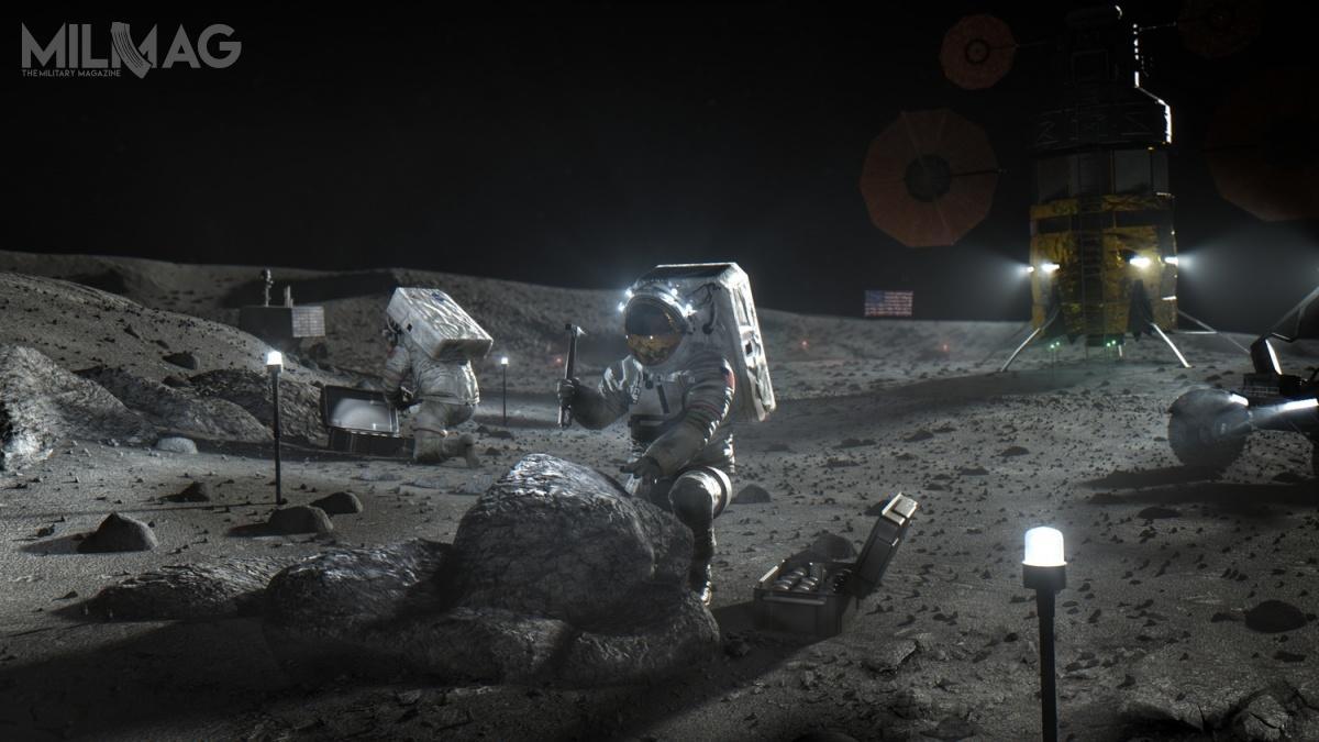 NASA wyłoniła trzech dostawców prototypów lądowników księżycowych HLS / Grafika: NASA