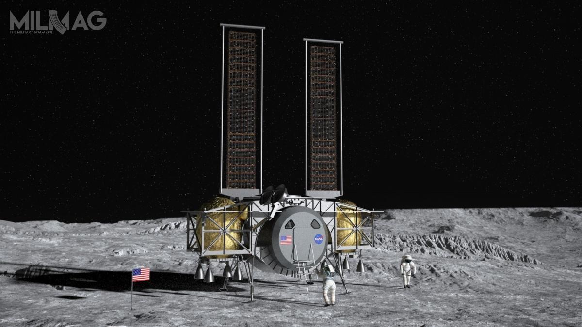 Koncepcja DHLS jest podobna dolądownika Common Lunar Lander (CLL), rozwijanego przezNASA wlatach 1989-1993 wramach inicjatywy SEI (Space Exploration Initiative). Była pierwszą, inieudaną, próbą powrotu człowieka naKsiężyc pozakończeniu programu Apollo w1972 / Grafika: Dynetics