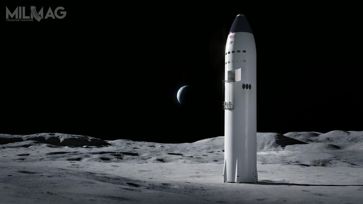 Starship proponowany przezSpaceX zeStarship jest najmniej kompatybilny zwizją NASA, alejak wcześniej udowadniał Elon Musk, odrzucenie projektu przezNASA niemusi oznaczać zakończenia. Kontynuację programu być może umożliwi prywatne finansowanie. Zwłaszcza, żeprototyp pojazdu, Starhopper, wykonał już trzy loty testowe naniskich pułapach / Grafika: SpaceX