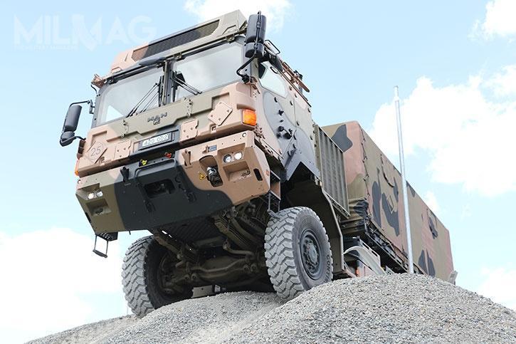 Zamówione samochody ciężarowe marki MAN cechują się wysoką mobilnością. Kabina kierowcy może być dodatkowo opancerzona / Zdjęcia:  Rheinmetall MAN Military Vehicles Australia