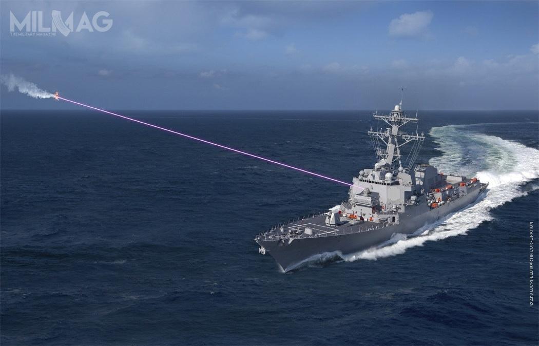 Zestaw został zainstalowany wsekcji dziobowej USS Dewey wmiejsce 20-mm artyleryjskiego systemu obrony bezpośredniej Phalanx CIWS  / Grafika: Lockheed Martin