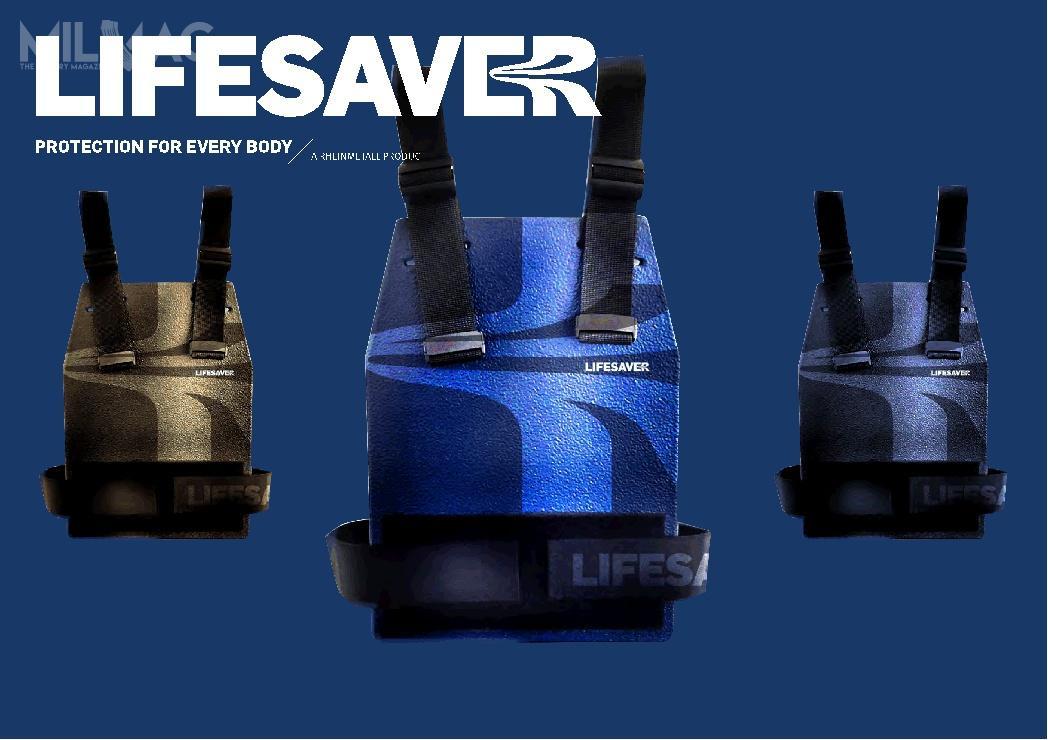 LifeSaver toskładająca się zdwóch płyt osłona przeznaczona dla użytkowników cywilnych. Ma chronić przedpostrzałem izapewnić bezpieczną ewakuację m.in.podczas ataków terrorystycznych / Grafika: Rheinmetall