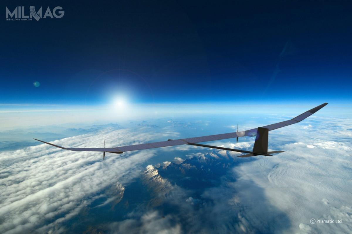 PHASA-35 ma 35 m rozpiętości skrzydeł imaksymalną masę startową 150 kg (wtym ładowność 15 kg). Wcześniej, w2017 testowano PHASA-8, którybył modelem wskali 1:4 wstosunku dodocelowego bezzałogowca / Zdjęcie: BAE Systems