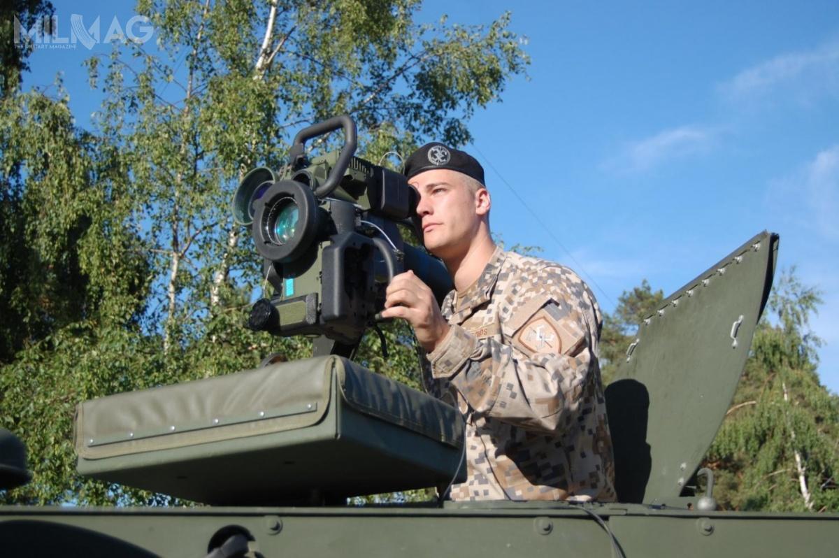 Pierwsze 12 wyrzutni ppk Spike LR Łotwa kupiła dekadę wcześniej. Obecnie uzupełnią je modele przenoszone przezspieszonych żołnierzy, jak też zintegrowane zwozami bojowymi / Zdjęcie: Łotewskie siły zbrojne
