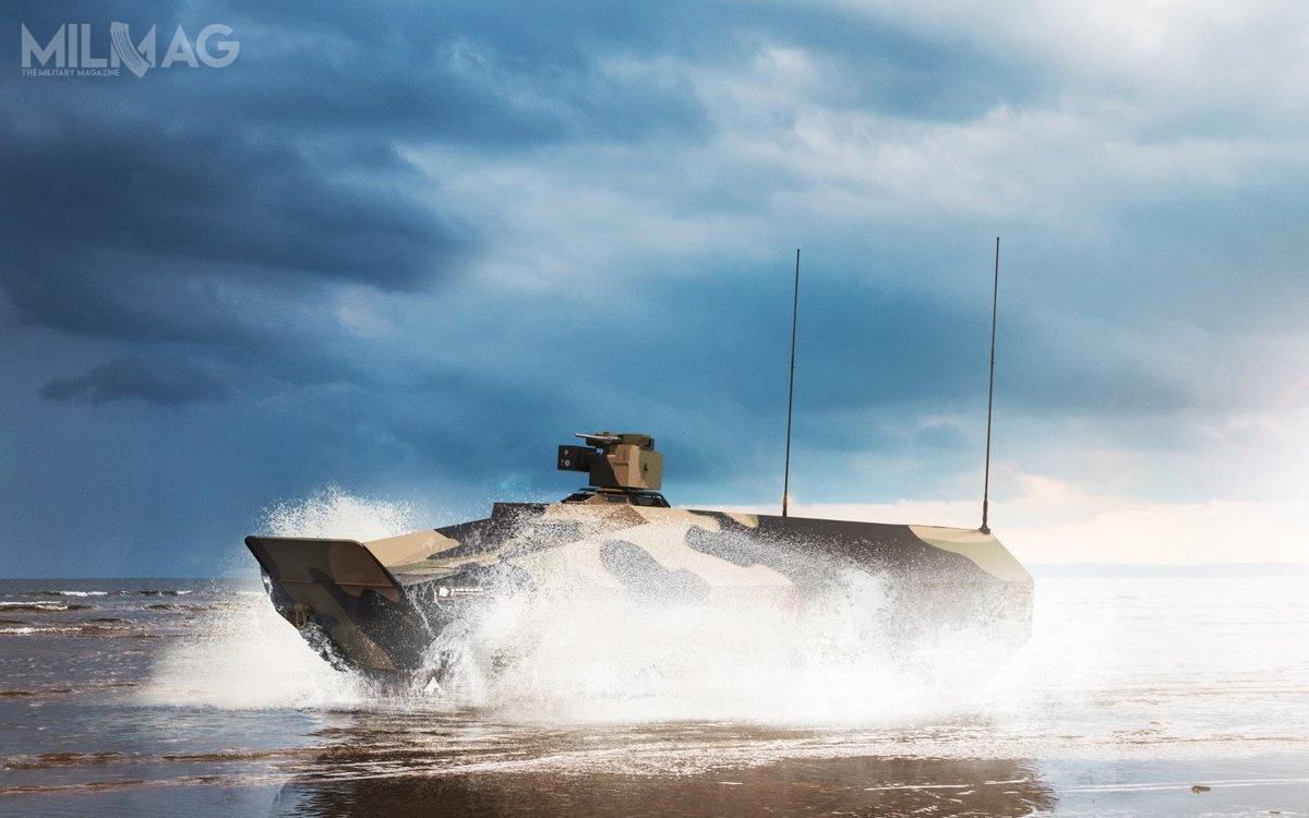 Lynx MSV ozredukowanej do26 t masie całkowitej będzie zdolny dopływania / Grafiki: Rheinmetall AG