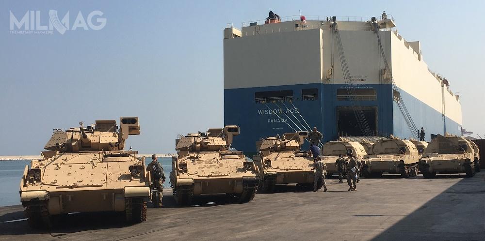 Pierwsze wozy M2A2 zostały przekazane Libanowi wsierpniu 2017. Łącznie dostarczono 32 bojowe wozy piechoty / Zdjęcie: US Army